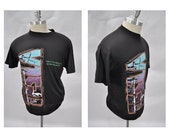 vintage tshirt vintage t-shirt TESLA shirt tshirt thin and soft mechanical resonance 1987 tour