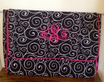 Personalized Monogrammed Swirl Padded Laptop Sleeve