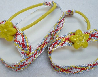 MULTI-COLORED SANDALS 18 inch doll clothes