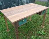 cypress writing desk with two drawers