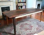 reclaimed wood rustic farm table