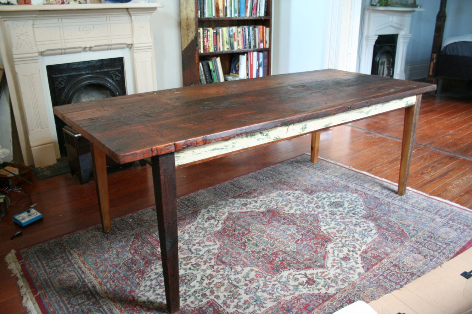 reclaimed wood rustic farm table by matthewholdren on Etsy