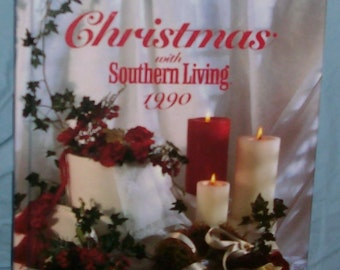 Vintage  NEW hardcover 1990  Christmas with Southern Living