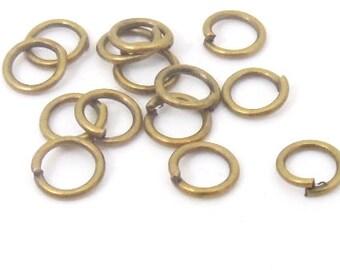 100 pcs.   jumprings bronze color , 6mm