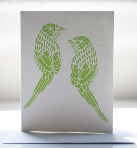 Cape Grass Bird Notecard