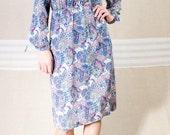 Purple Paisley Print Dress