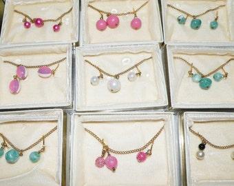 Vintage Kinney Earring and Necklace Lot Original cases nine sets