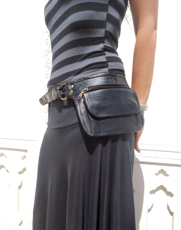 leather utility belt leather belt bag hip bag pouch belt