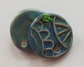 Handmade Ceramic Porcelain Earrings Pendants 101213