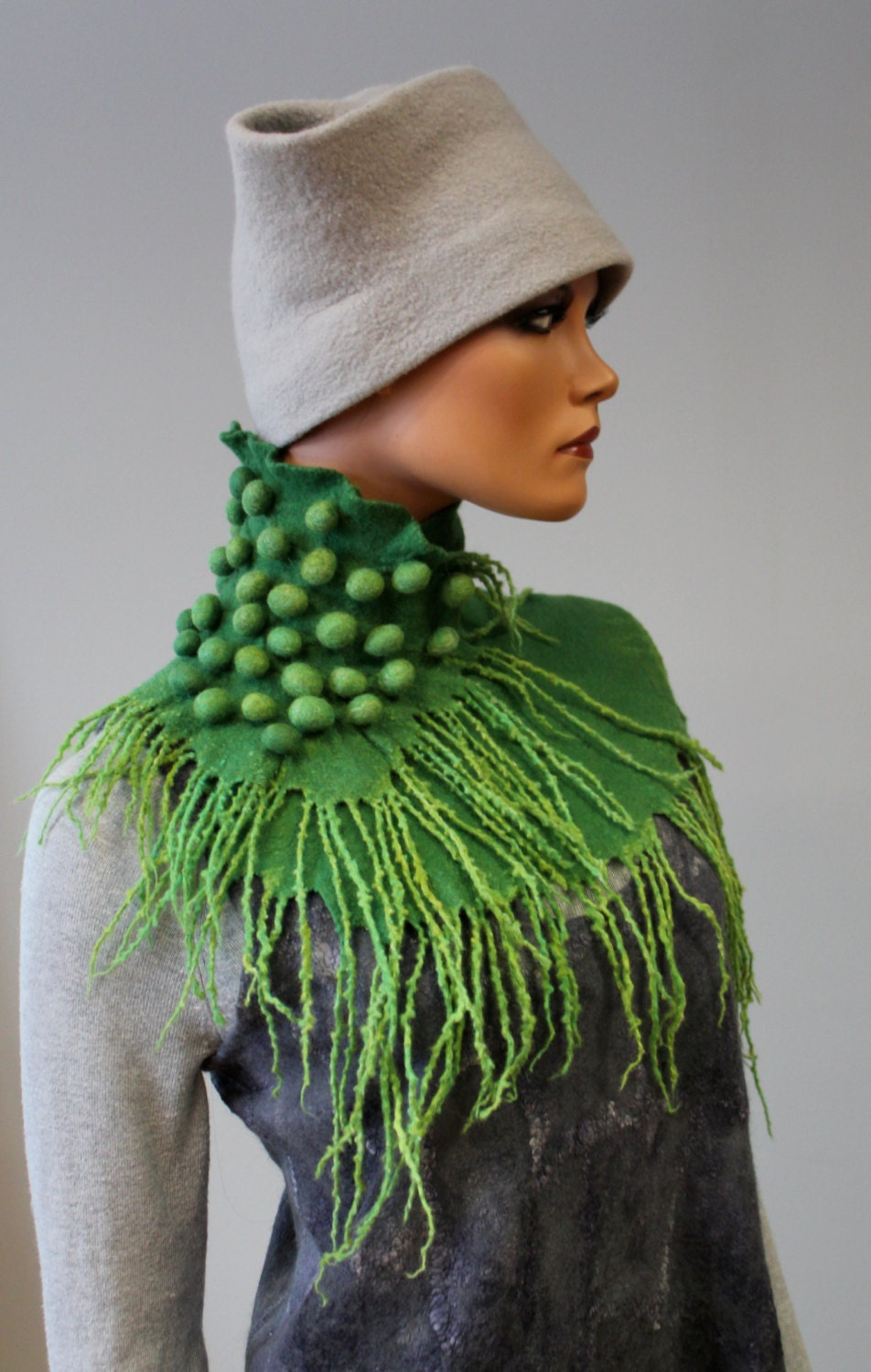 felted scarf shoots sorbet by dosethhandmade on etsy
