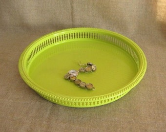 Reduced Price Key Lime Upcycled Tray / Vanity Tray in Key Lime Green