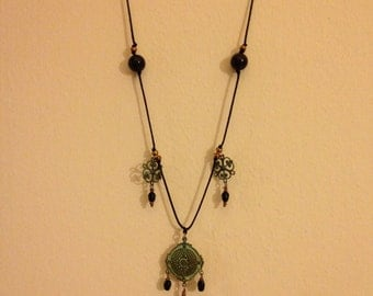 Victorian Verdigris Knotted Necklace