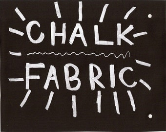 Round Chalk Fabric Tablecloth