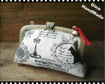 Vintage symbol iphone case // Coin metal purse / Coin Wallet / Pouch coin purse / Kiss lock frame purse bag-GinaHandmade