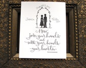PERSONALIZED WEDDING  PRINT - Now join your hands, and with your hands, your hearts. - Wm Shakespeare
