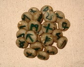 Handmade Mini Runes of the Elder Futhark, Mugwort