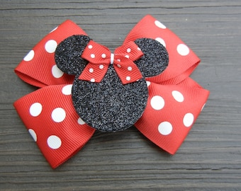 Red Minnie Mouse Hair Bow Hairbow