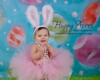 LIL BUNNY tutu .... Pink Easter tutu size nb-2t (ears not included)