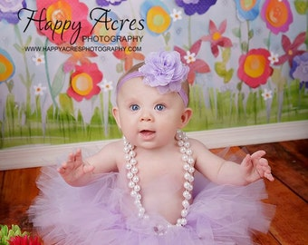 Lavender birthday tutu with headband.....newborn tutu, baby tutu, toddler tutu, photography  prop
