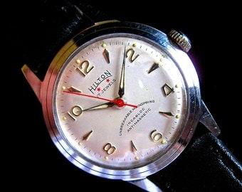 Hilton Watch - All Stainless Steel - Very Nice Dial