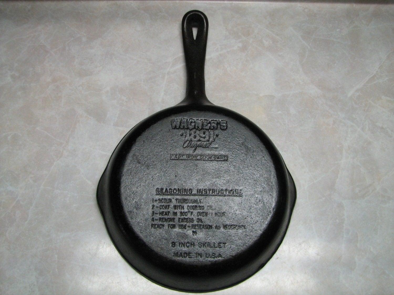 wagner cast iron skillet 1891 series frying pan wedding. Black Bedroom Furniture Sets. Home Design Ideas