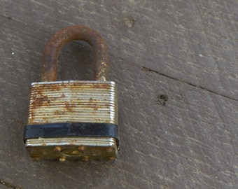 Rusty Old Padlock. For art or jewellery assemblage. Reuse upcycle