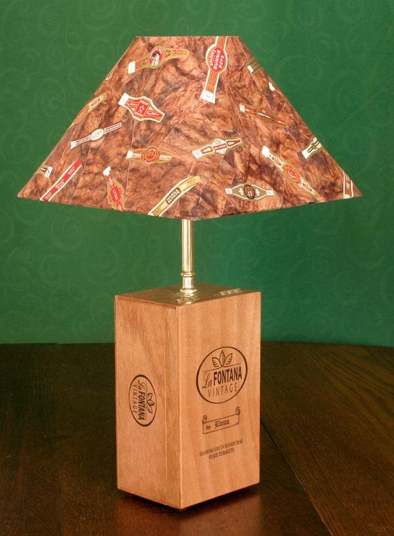 Cigar Box Table Lamp Cigar Band Shade By Leeannsvintagedecor