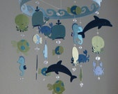 Baby Mobile Ocean Creature Sea Baby Mobile CUSTOMIZE your colors!