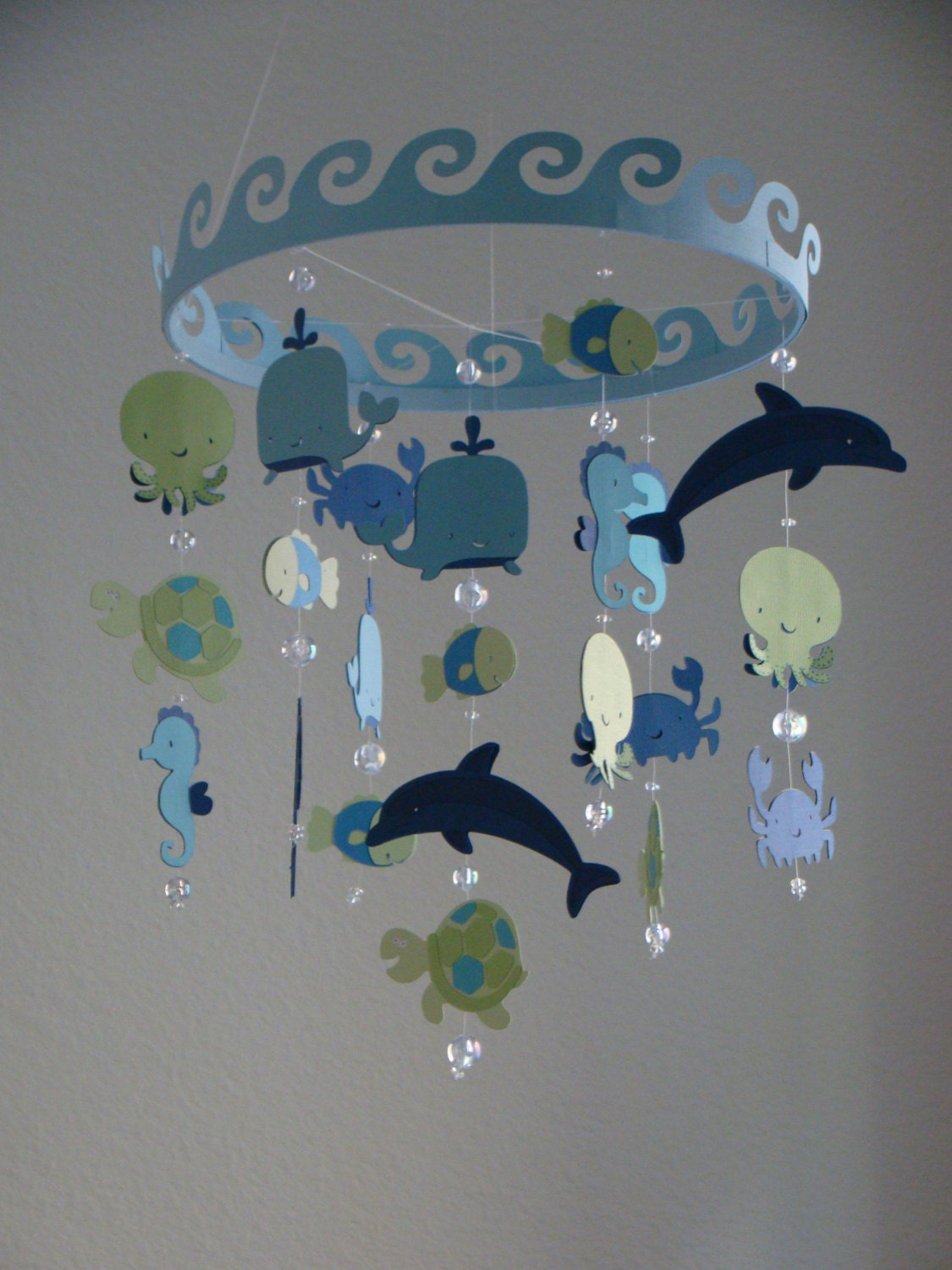 Baby mobile ocean creature sea baby mobile customize your for Sea animal baby mobile
