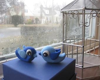 Pair of customized love birds Cake Topper