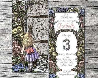 Secret Garden Invitations and Thank You Cards (sold separately)