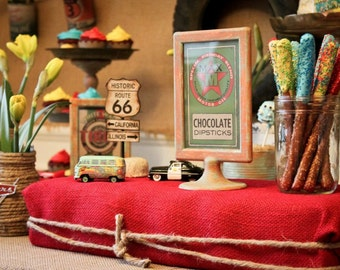 DIGITAL Vintage Radiator Springs Food Signs as seen on Kara's Party Ideas