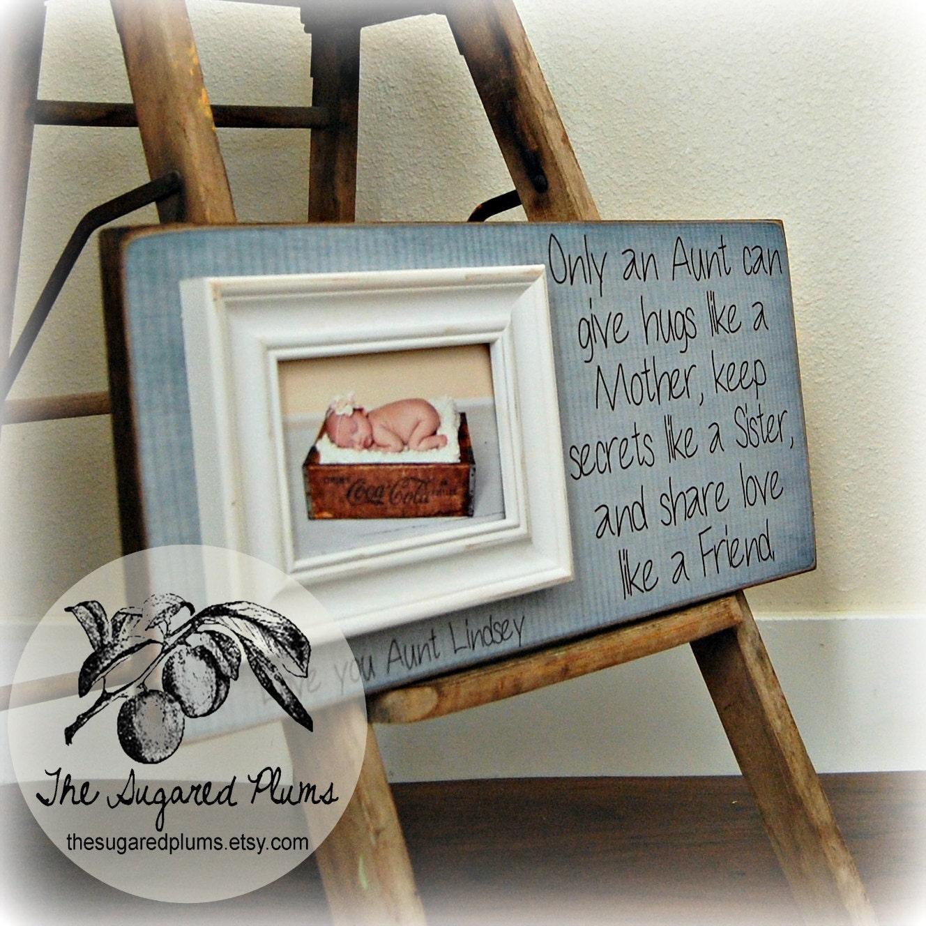 Wedding Gift For Aunt: Aunt Gift Frame For Aunt Godmother Godfather Godparents