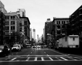 Downtown Manhattan Photography Print, New York City, NYC Wall Art, 1 World Trade Center, Metallic Paper