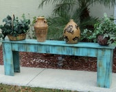 Plant Stand, Entry Or Sofa Table, Rustic Wooden Bench, Sun Room, Mud Room