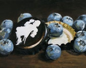 Cantillon and Blueberries, Print from Oil Painting