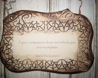 Siddartha Gautama Inspirational Quote Ceramic Plaque