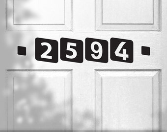 Custom House Number Decal - Vinyl House Number, Outdoor House Numbers, Front Door Number, Vinyl Door Numbers, Number Flash Card Style