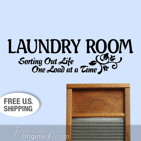 vinyl wall decal laundry room wall decor sign sorting by