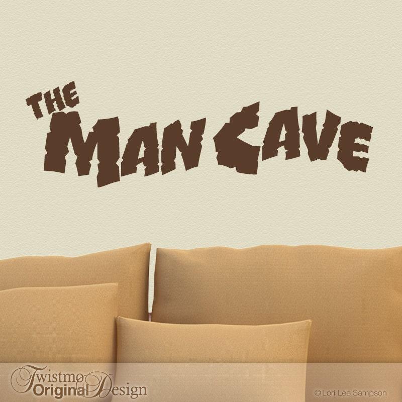 Man Cave Vinyl Wall Art : Man cave vinyl wall decal door sign sticker fall decor by