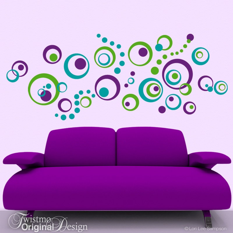 ... Circles Wall Decal, Wall Pattern Decal. 🔎zoom