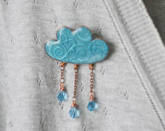 Brooch - Rainy Cloud