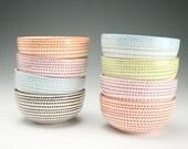 Special order for Debbie - replacement bowl - Your Choice Color Vertigo Spiral Bowl Hand Painted Dinnerware