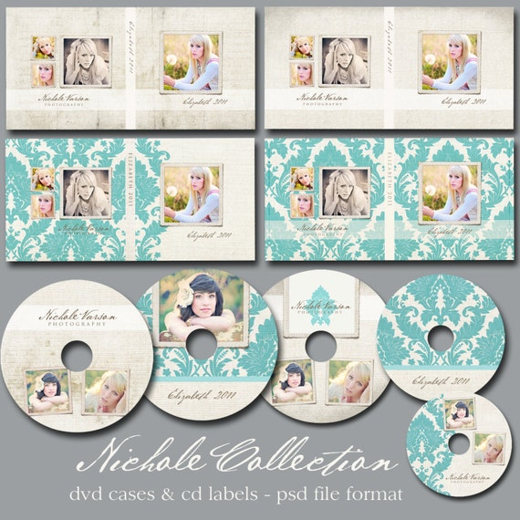Nichole Collection - CD Case & Label Templates for Millers Lab