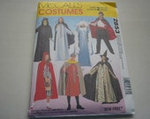 Pattern Costume Adult Wizard Capes RingMaster Robin Hood McCalls 2853