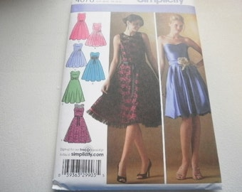 Pattern Ladies Dress Formal Prom Party Sz 6 to 14 Simplicity 4070