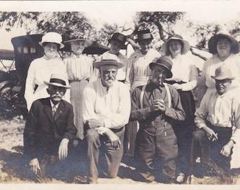 Vintage Photograph - Group on a Picnic,Vernacular, Found Photo, Ephemera  (CC)