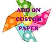 Add Custom Printed Paper To My Order Up To 15 Items