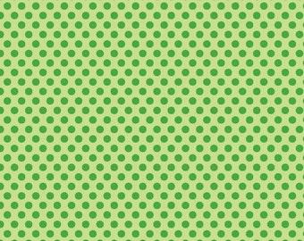Zoofari Green Dots by Doodlebug Designs for Riley Blake, 1/2 yard