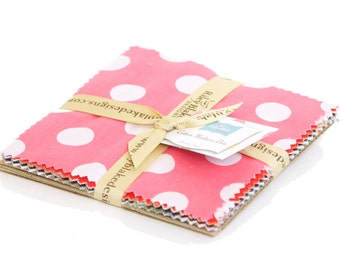 "Dots Medium 5"" squares Charm Pack by Riley Blake Designs for Riley Blake, 15 pieces"